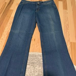 Nine West Distress Wash Bootcut Jeans Size 16
